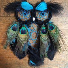 Custom Peacock Owl Dreamcatcher by SunChildDreams on Etsy