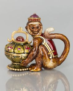 """Monkey Box by Jay Strongwater at Horchow. 2.75"""" Tall $525"""