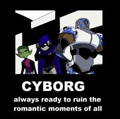 raven comes out of her room hugs beast boy bb: raven? hit in the face with object cyborg: WOOHOO! STANKBALL!