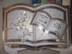 Bookatrix card we made for my friends Silver Wedding.