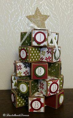 Adventskalender - Geschenkschachteln - Stampin up - BasteltanteDoreen