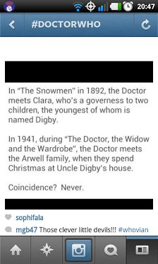 """""""The Snowmen"""" and """"The Doctor, the Widow and the Wardrobe"""""""