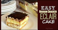 If you are searching for an easy no bake dessert that's sure to impress the family every time, make this heavenly graham cracker éclair cake ASAP!