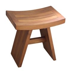 image quarter bamboo bathroom stool the original asia teak shower bench our traditional asian teak shower stool is a stunning combination of modern design and ancient tradition our imported