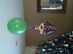 Elf on the Shelf - Air balloon ride. This is great!!