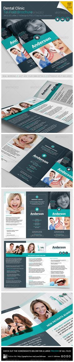 Dental Clinic Tri-Fold Brochure - Brochures Print Templates