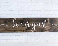 Be Our Guest Wood Sign, Rustic Farmhouse Wooden Sayings Wall Décor, Guest Room Wall Decor