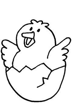 kleurplaat kuiken komt uit het ei kip kleurplaten nl