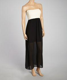 Look what I found on #zulily! Black Color Block Maxi Dress - Women #zulilyfinds