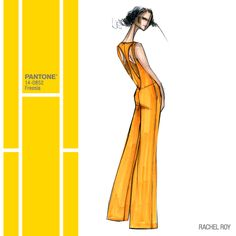 @Rachel_Roy was inspired by the strength and elegance of women for her #SS14 Collection - enlivened here in Freesia! #FCRS14 #pantone #RachelRoy