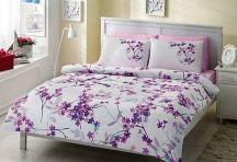 Lenjeria de pat Eldora celebreaza veselia unei primaveri perfecte. Culorile unei gradini minunate sunt adunate in combinatiile de nuante ce impodobesc lenjeria de pat. Unic la acest asternut de pat este imprimeul, ce rasare pe un fond alb, impunandu-se prin delicatete si eleganta.