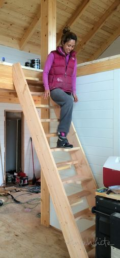 alternating tread stair diy