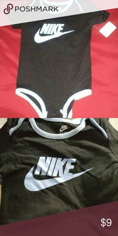 *PRICE DROP* Nike Onesie Short Sleeve 9 - 12 mos *NEW with TAGS*  Nike Onesie Short Sleeved Size 9 - 12 months. Nike One Pieces Bodysuits