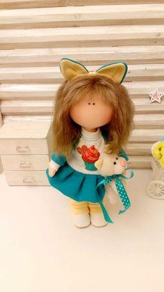 Купить Текстильная кукла- Ника - кукла ручной работы, кукла в подарок, кукла, кукла интерьерная