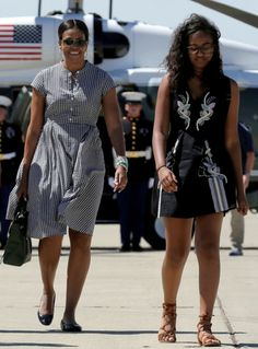 President Obama. First Lady Michelle Obama and their daughters Malia and Sasha depart from Castle Airport in Atwater, Calif., 6/19/16,