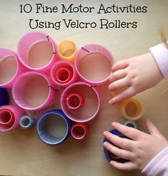 Fine Motor Skills Activities Ideas Using Velcro Rollers. What a fun, inexpensive item for kids to explore to encourage fine motor skills development!