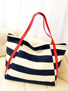 2013 Fashion Stripes One Shoulder Bag