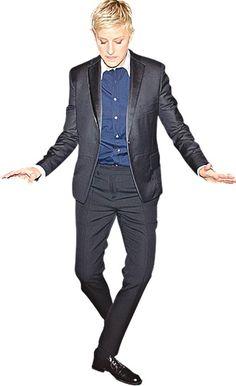 Top tux: Ellen DeGeneres. Photograph: Kris Connor/Getty Images