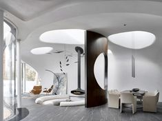 Futuristic home - Doolittle House, An Example of Organic Architecture Art in Joshua Tree – Futuristic home Architecture Design, Organic Architecture, Amazing Architecture, Pavilion Architecture, Residential Architecture, Contemporary Architecture, Frank Lloyd Wright, Living Area, Living Spaces