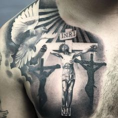 Check out this Firme work by Artist TatDaddy… Daddy Tattoos, God Tattoos, Jesus Tattoo, Dream Tattoos, Tattoos For Guys, Jesus Chest Tattoo, Forarm Tattoos, Chicano Tattoos, Forearm Tattoo Men