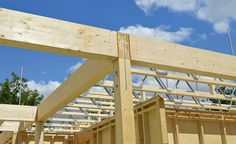 MiTek Posi-Joists open metal web joists first floor structure Concrete Countertop Mix, Concrete Tiles, Roof Joist, Building Construction Materials, Log Home Designs, Timber Buildings, Timber Structure, Floor Framing, Steel Roofing