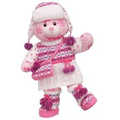 Cold Weather Cutie Pink Flurry Teddy - $49.50