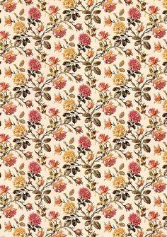 Paper Background, Background Images, Textures Patterns, Floral Patterns, Patchwork Fabric, Pattern Books, Textile Prints, Vintage Paper, Vintage Flowers