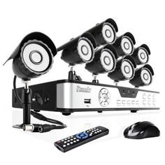233c95377af Zmodo 8CH DVR Security Surveillance CCTV Camera System With 8 Outdoor Night  Vision IR Cameras 1TB