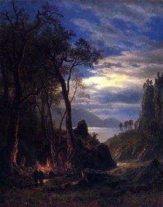The Campfire - Bierstadt Albert