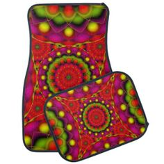 Set of Car Mats Mandala Psychedelic Visions #Zazzle #Set #Car #Mats #Mandala #Psychedelic #Visions #red http://www.zazzle.com/set_of_car_mats_mandala_psychedelic_visions-256166029348551612