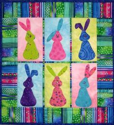 Bunny Quilt ePattern 4385-1 bunny wall quilt by castillejacotton