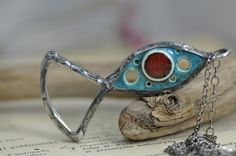 loupe pendant mother gift loupe ceramics and  loupe by zolanna