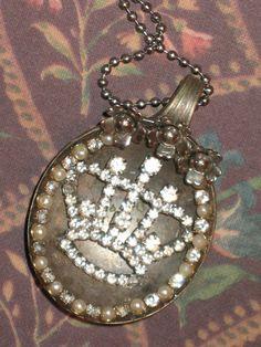 Antique Silver spoon necklace