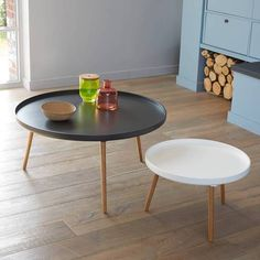 Mobilier on pinterest mid century modern hans wegner and george nelson - Table basse bicolore ...
