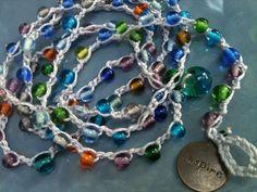 FIVE WRAP Small Glass Beaded BraCeLet preTTy by wandandwear, $24.85