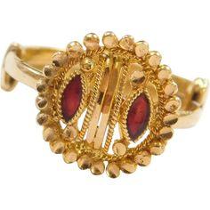 Gothic Women/'s Rose Flower Vine Enamel Finger Ring Cosplay Jewelry Gift Natu HK
