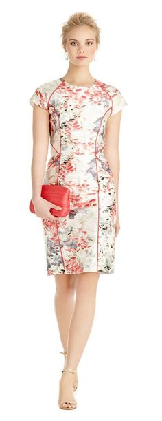 Tecidos para fazer vestido  tubinho Floral Fashion, Work Fashion, Fashion Looks, Casual Dresses, Short Dresses, Summer Dresses, Classy Outfits, Pretty Outfits, Dress Skirt