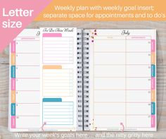 US Letter Size 2016-2017 Weekly Planner by EasyBreezyParties