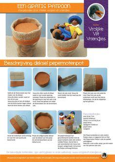 Deksel pepernotenpot | Atelier Vrolijke Vilt Vriendjes