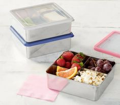 Pottery Barn Kids Lunch Containers, Food Storage Containers, Lunch Boxes, Treehouse Loft Bed, Emily And Meritt, Healthy School Lunches, Kid Lunches, Insulated Lunch Box, Bento Box