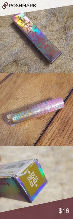Jeffree Star Velour Liquid Lipstick - First Class Brand New in a sealed package! This is a stunning gold liquid lipstick by Jeffree Star Cosmetics. I had to buy this one in order to get the mermaid one and the Poinsettia one, because they were a limited edition holiday bundle. I don't think I'd get any use out of a gold lipstick, but you might! jeffree star Makeup Lipstick