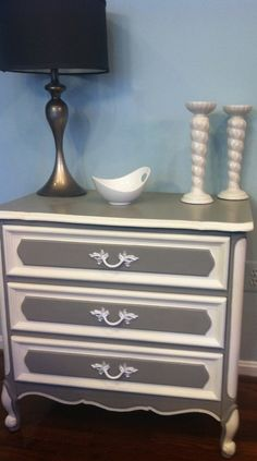 "Vintage Henry Link French Provincial - ""French Linen"" & ""Old White"" A.S. Chalk Paint"