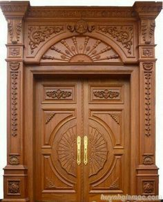 Ideas main door design unique for 2019 Wooden Front Door Design, Main Entrance Door Design, Double Door Design, Wooden Front Doors, Glass Front Door, Glass Door, Pooja Room Door Design, Door Design Interior, Unique Doors