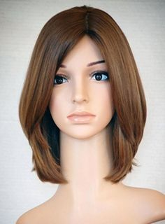 New Arrival Elegant Attractive Hairstyle Medium Straight 10 Inches Brown RemyHuman Hair Lace Wig Medium Hair Cuts, Short Hair Cuts, Medium Hair Styles, Long Hair Styles, Warm Brown Hair, Cheap Human Hair Wigs, Asian Short Hair, Shot Hair Styles, Silky Hair