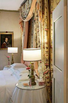 Laura Ashley room at Villa Paolina,  luxury in Tuscany