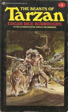 Beasts of Tarzan - Edgar Rice Burroughs, cover by Neal Adams