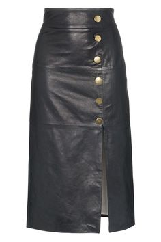 Shop online Skiim lucy button detail leather skirt for Discover new season items from the world's best luxury designer brands. Leather Mini Skirts, Leather Skirt, Love Fashion, Fashion Outfits, Fashion Design, Office Skirt, Skirt Pants, Mode Style, Skirt Outfits