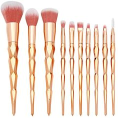 TheFellie Unicorn Brushes, Makeup Brushes Rose Gold Rainbow Concealer Foundation Powder Cosmetics Brush Kit Eyeshadow Makeup Brush Set, 10 PCS ** Read more reviews of the product by visiting the link on the image. (This is an affiliate link) #ToolsAccessories