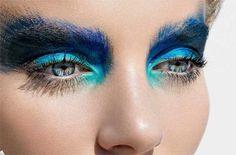 Asos mag 4 - Make up Makeup Fx, Runway Makeup, Blue Makeup, Beauty Makeup, Hair Beauty, Eyeshadow Makeup, Turquoise Makeup, Peacock Makeup, Runway Hair