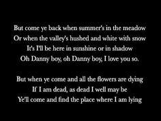 57 Danny Boy Versions Performers Ideas Londonderry Air Weatherly Rhymes